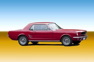 rode klassieke sportwagen foto
