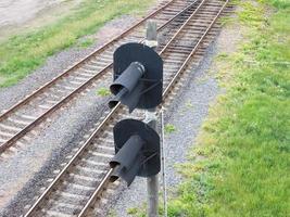 spoorweg achtergrond. foto