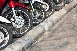 parkeerplaats motorfiets foto