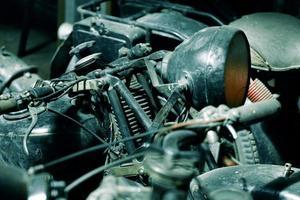 vintage motorfietsen foto