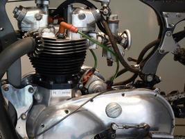 antieke motorfietsmotor foto