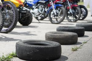 banden en motorfietsen foto