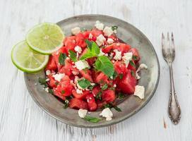 vers watermeloensap, gezonde drank. foto