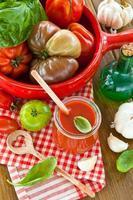 huisgemaakte tomatensaus foto