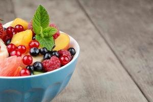 verse, smakelijke fruitsalade foto
