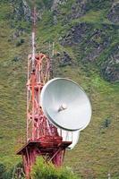 telecommunicatie in de bergen foto