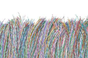gekleurde telecommunicatiekabels en -draden foto