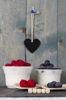 fruit yoghurt foto