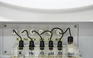 automatiseer chemieanalysator. foto