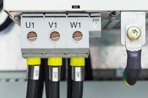 driefasige stroomaansluiting foto