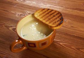 zuppa d'aglio in crosta foto