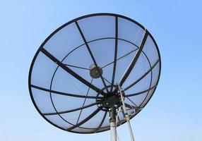 satellietschotel voor telecommunicatie foto