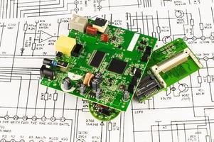 verschillende circuits van de groene kleur foto