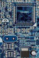 moederbord van de computer, close-up foto