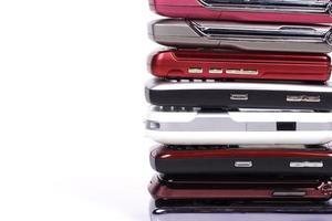 mobiele telefoonstapel foto