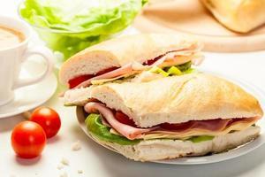 Italiaanse panini sandwich foto