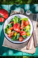huisgemaakte vegetarische salade van het platteland foto