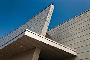 architectonische details van een modern gebouw in Baltimore, Marylabd. foto