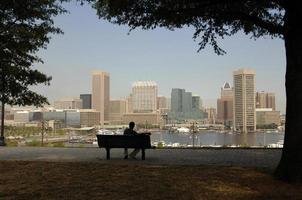 Baltimore vanaf de heuvel