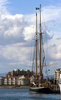 jacht in de haven foto