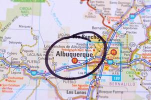 Albuquerque en kaart foto