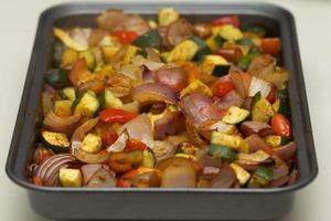 geroosterde gekruide groenten foto