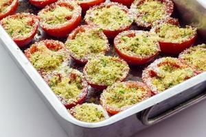 tomaten gegratineerd foto