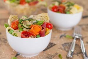 plantaardige pasta horizontaal foto