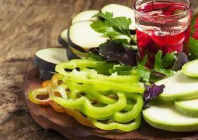 gesneden groenten, selectieve aandacht