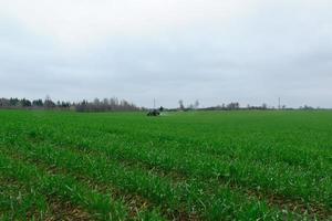 tractor op veld foto