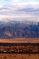 prachtig uitzicht op de bergen van sandia foto