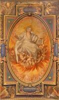 rome - fresco de god van de eeuwigheid foto