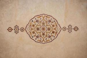 fresco op het plafond van hiran minar