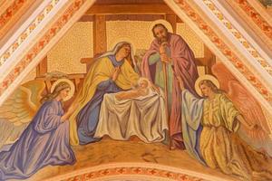 banska stiavnica - het fresco van de kerststal
