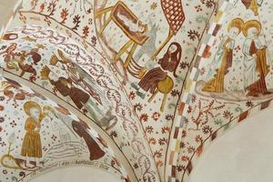 biblia pauperum-stijl - fresco's in de Deense kerk foto