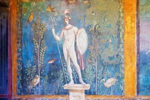 fresco in pompeii foto