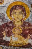 fresco van het sumela-klooster foto