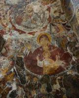 fresco van sumela klooster foto