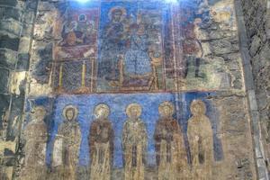 fresco in het akhtala-klooster foto