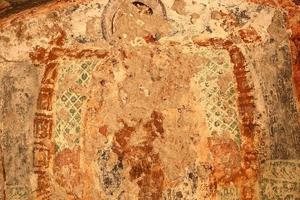 orthodoxe fresco's op de muren foto