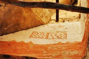 originele rotstekening van het klippenpaleis Mesa Verde National Park Colorado foto