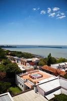 luchtfoto van het historische centrum van colonia del sacramento in uruguay