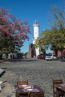 colonia de sacramento stad, uruguay, reizend zuid-amerika. worden foto