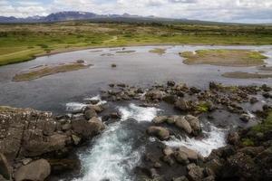 waterval en rivier foto