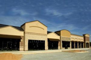 bouw van een winkelcentrum foto