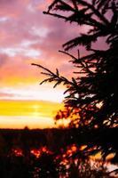 zonsondergang op de rivier