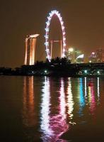 singapore nacht skyline foto