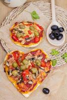 hartvormige pizza foto