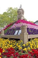 leeuw standbeeld in suzhou, china foto