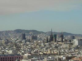 panoramisch uitzicht over barcelona 9 foto